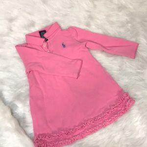 Pink Infant/Toddler Ralph Lauren Polo Dress